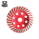 5 inch ,Continuous Turbo Diamond segmented Concrete grinding cup wheel