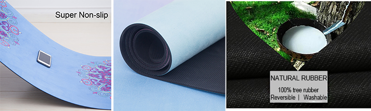 Super Soft And Luxurious Non-slip Microfiber Custom Printed Yoga Mat