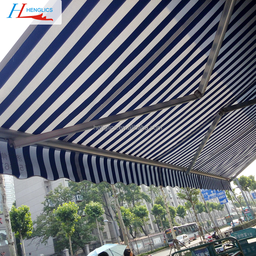 Outdoor full cassette motorized awnings aluminium waterproof retractable awning for balcony