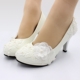 Grace Women Wedding Shoes Handcrafted Shoes Party Show Lace Bridal Wedding Shoes