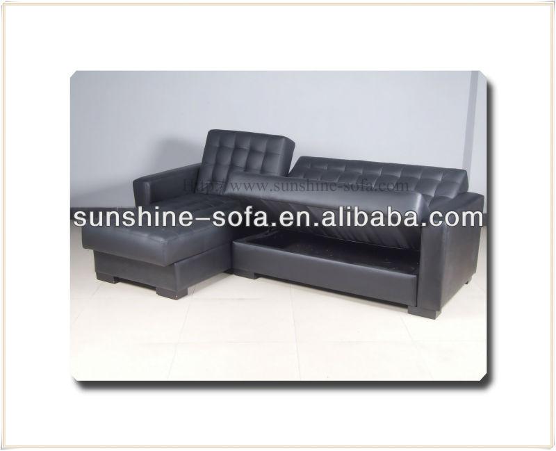 Pu Corner Group Sofa Beds With Storage Box - Buy Corner Group Sofa  Beds,Leather Comer Sofa Bed With Store Box,Corner Sofa Wirth Storage  Product on ...