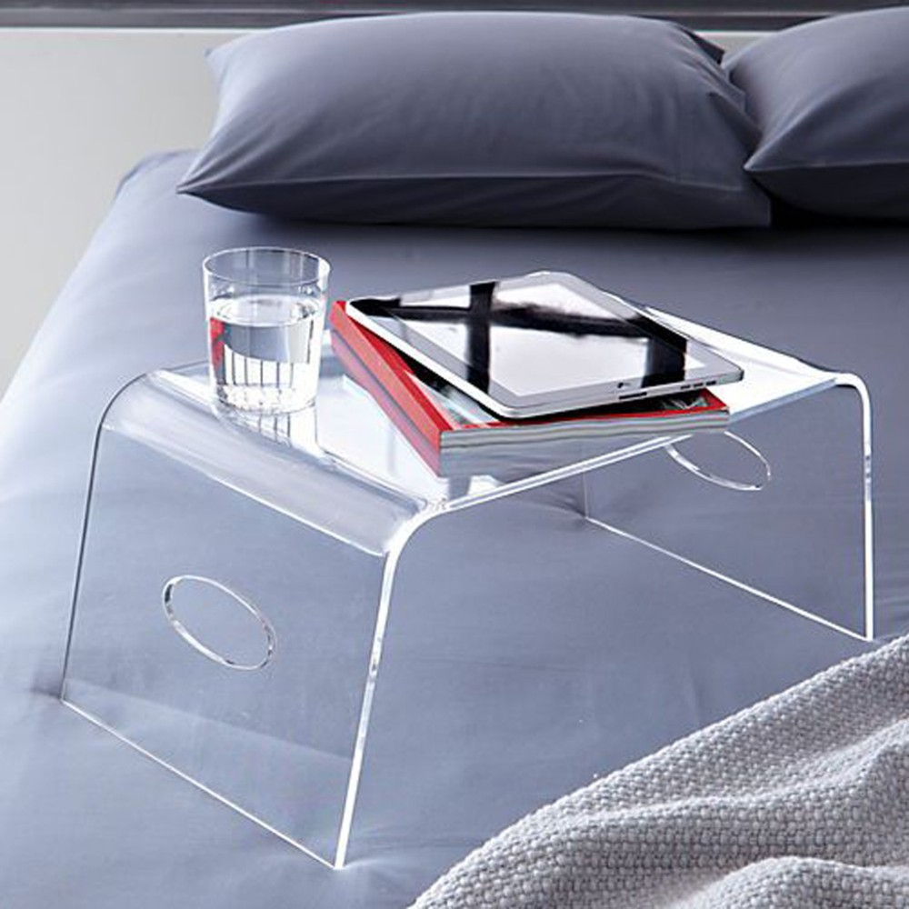 Clear Acrylic Breakfast Tray Bed Laptop Tray Lucite Tray
