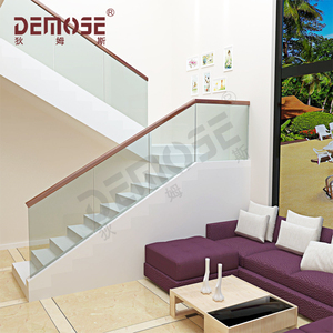 modern glass panel banister rails stair parts