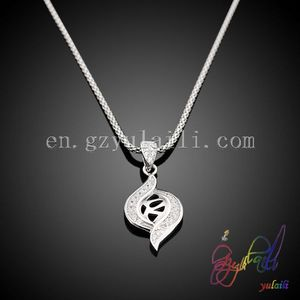 Wholesale 925 sterling silver pendant necklace for Women Micro aaa zirconia setting meaningful pendant necklace