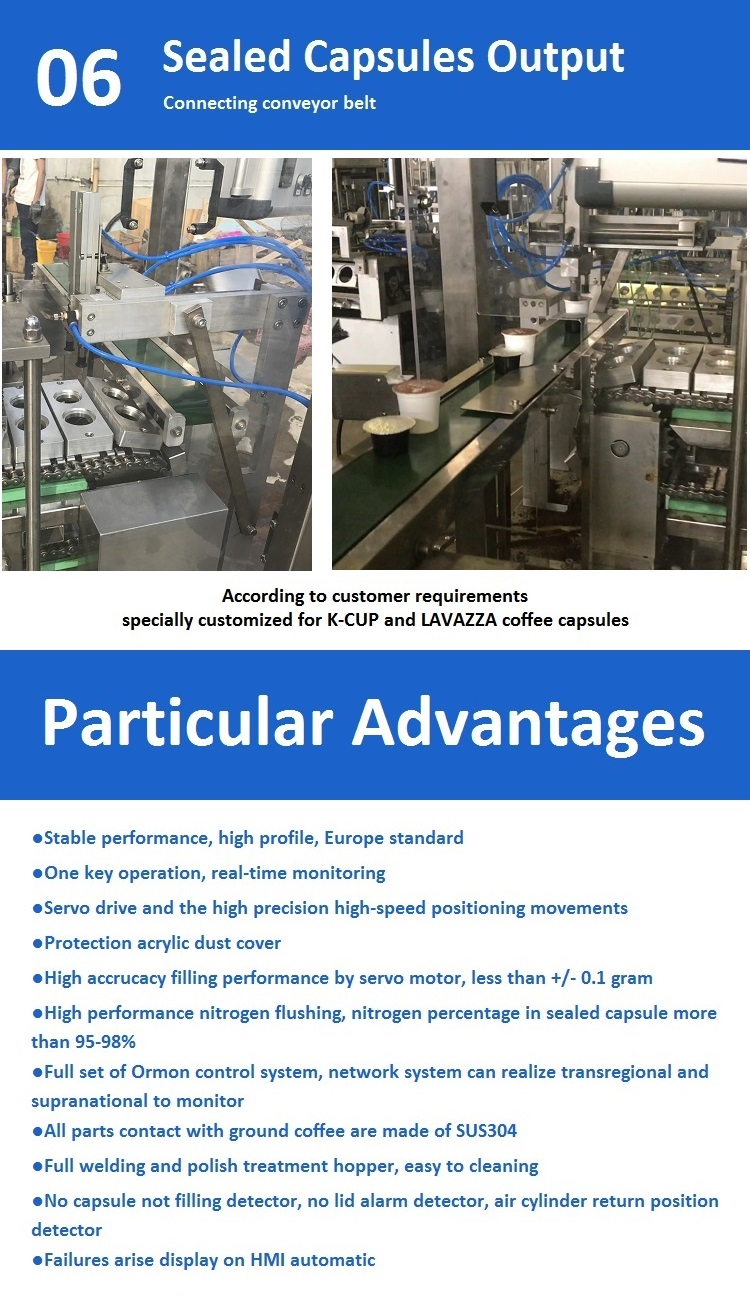 automatic lavazza and k cup coffee capsule filling and sealing machine for powder with high speed and high filling precision