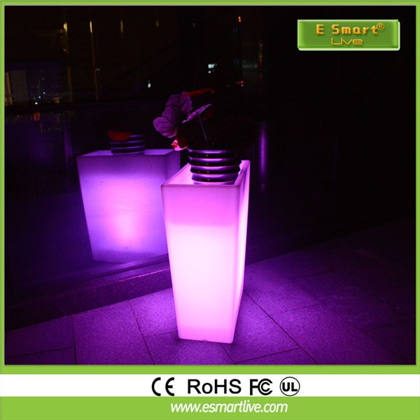 tall vase lighting garden. Tall Square LED Flower Pots\u0026planters, Glowing Vase, Light Up Garden Pots\u0026planters Vase Lighting N
