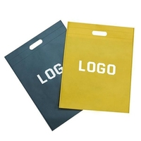 Custom Printed Logo And Color Recycled Waterproof Die Cut Handle Plastic Based Biodegradable Bag
