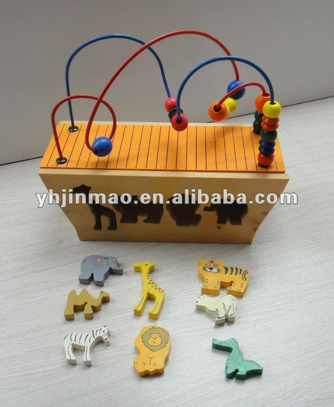 2015 newest wooden beads game with animal6003