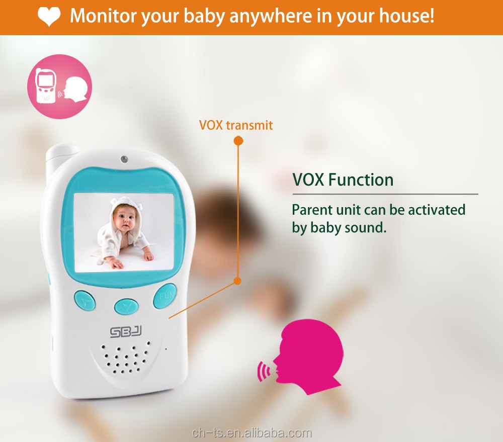 digital security two way realtime audio talk night vision baby camera video monitor