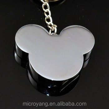 Wholesale Metal Mickey Mouse Head Shape USB 20 Memory Stick Flash Pen Drive