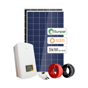 Sunpal 5KW Solar Panel System Home On Grid 1KW 2KW 3KW 4KW Roof Solar Panel System