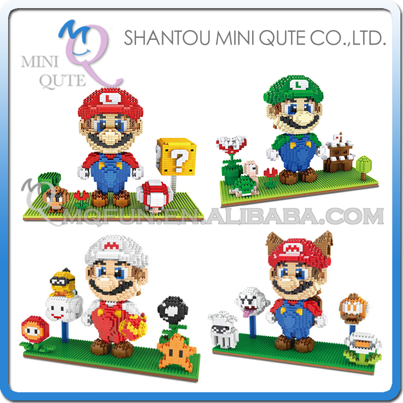 Mini Qute ZMS Kawaii Anime game cartoon game super mario plastic Series connect building blocks girls educational toy