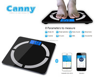 Bluetooth Body Fat Scale CF570 measure 8 parameters with low cost price, for Android 4.3 - ISO 6.1- Bluetooth 4.0