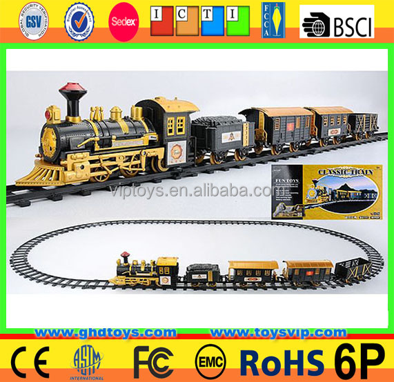 Electric light music remote control track train rc trackway train