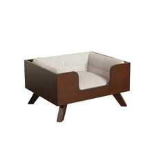 Hoge Kwaliteit Houten Hond Bed Indoor Hond Bed Houten Moderne Hond Bed <span class=keywords><strong>Luxe</strong></span>