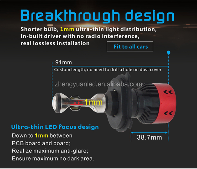 LED H7 V6 Factory Best Seller Car Led Headlight H13 72w 9600lm LED Headlight Bulb