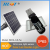 Helist 2015 Design 3W 6W 7W All in one Led garden solar light
