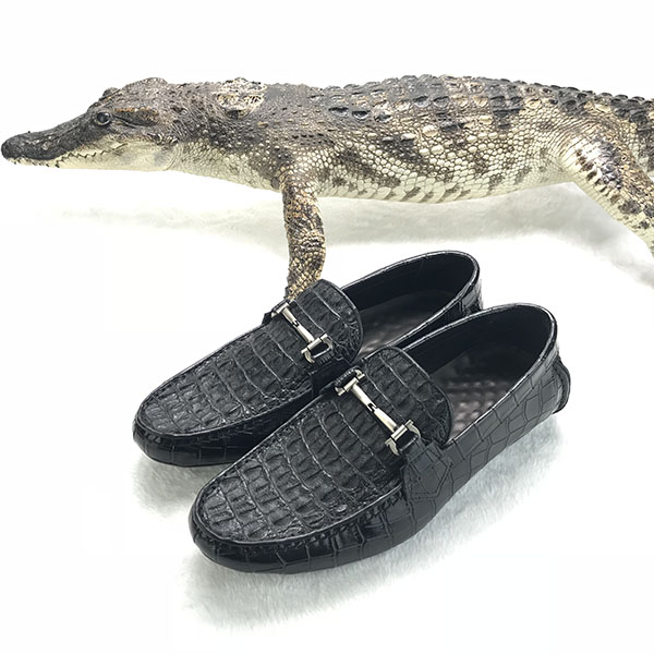 men OEM crocodile casual shoes leather genuine 0v70XgzTqw