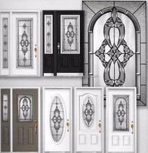 Custom made beveled cluster stained glass door