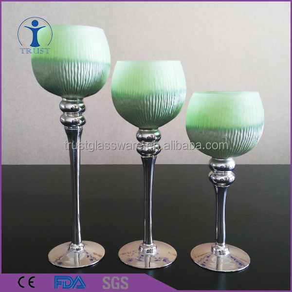 China Fashion Factory High Quality Cheaper Votive Long-stemmed Glass Candle Holder