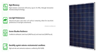 250w high efficiency poly pv solar panel for 20v system