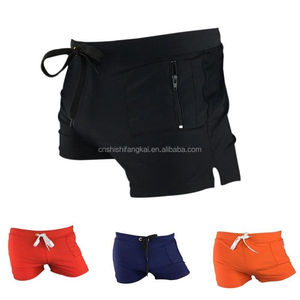 man swimming trunks boxer shorts tie rope swim suits men's swimwear surf board flat fast drying beach pants