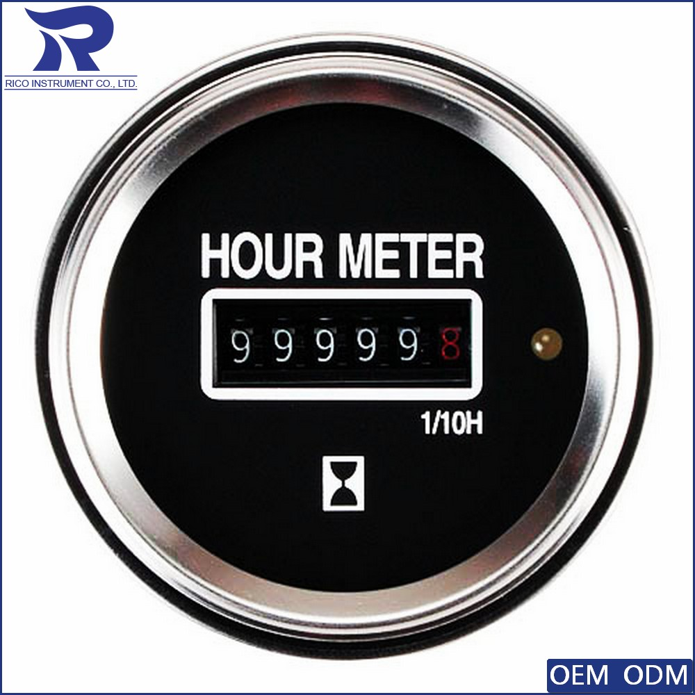 6V to 50V Rico hour Meter Gauge Tracking Time For Boat Tractor Car Engine