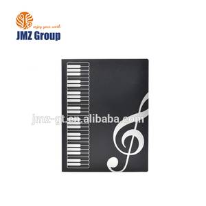 High quality plastic music sheet folder music organizer with clear 40 pockets file folder