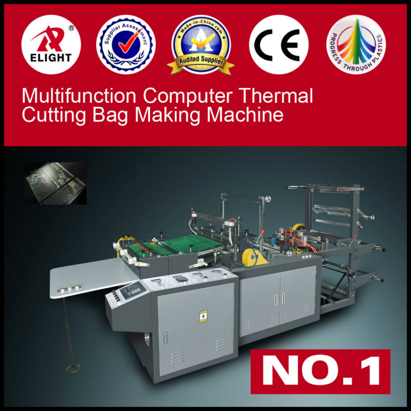 CE Two layers Computer two sides sealing BOPP bag making Machine,PE hot cutting machine,OPP side sealing bag machines