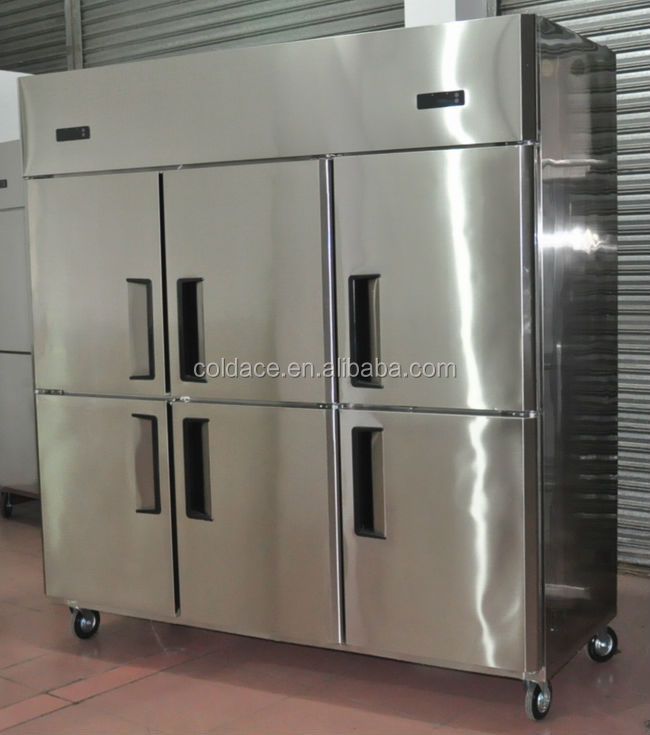 6 doors upright freezer/chiller CE approval