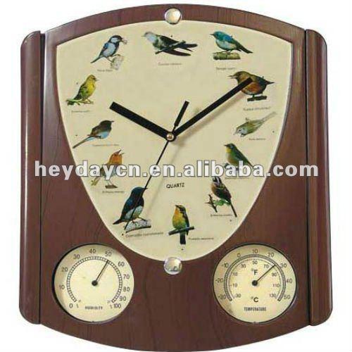 bird sounds clock with thermometer(HY-3198)