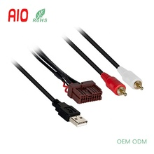 AUX/USB Retentie Auto Radio Stereo 16Pin Connector Adapter Ontvanger USB <span class=keywords><strong>Kabelboom</strong></span> voor Hyundai en Kia 2009- up Voertuigen