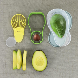 2019 Hot Sale New Kitchenware Avocado Keeper Fruit Saver Avocado Cutter Slicer Set