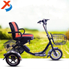 12 inch 36v electric bicycle three wheel passenger tricycle , 3 wheel bike for elderly