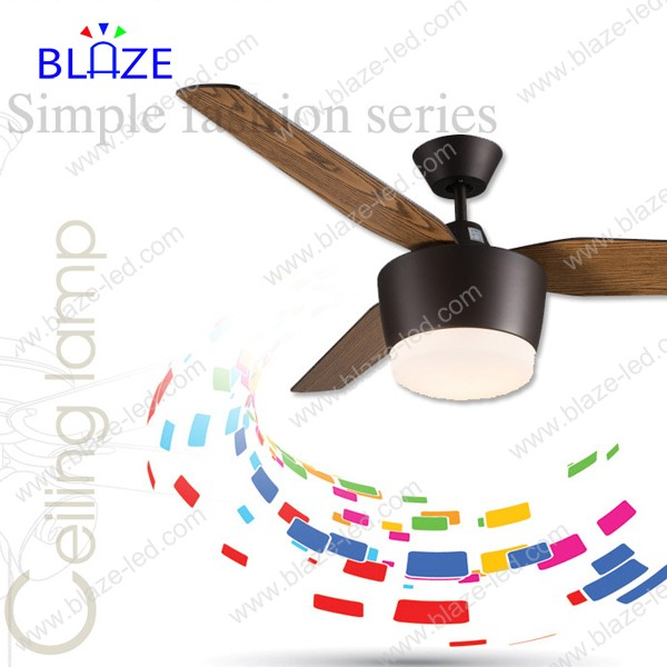 2017 High quality Home appliances wooden blades remote fan speed control