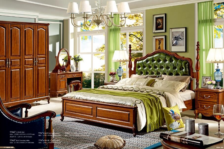 Arabic style king size bedroom furniture antique wooden for Arabic bedroom ideas