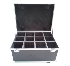12 pieces in one shockproof flight case for led par light with EPE foam inside