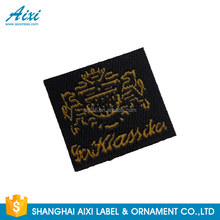 Hot sale latest desirable centerfold garment woven label