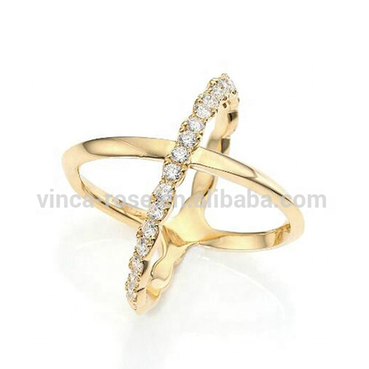 High Quality Cross Design X Ring Jewelry Amazon Online Shop 18k Gold Finger Ring Buy Cross Design X Ring Latest Gold Ring Designs 18k Gold Ring Product On Alibaba Com