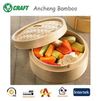 3 inch mini bamboo steamer