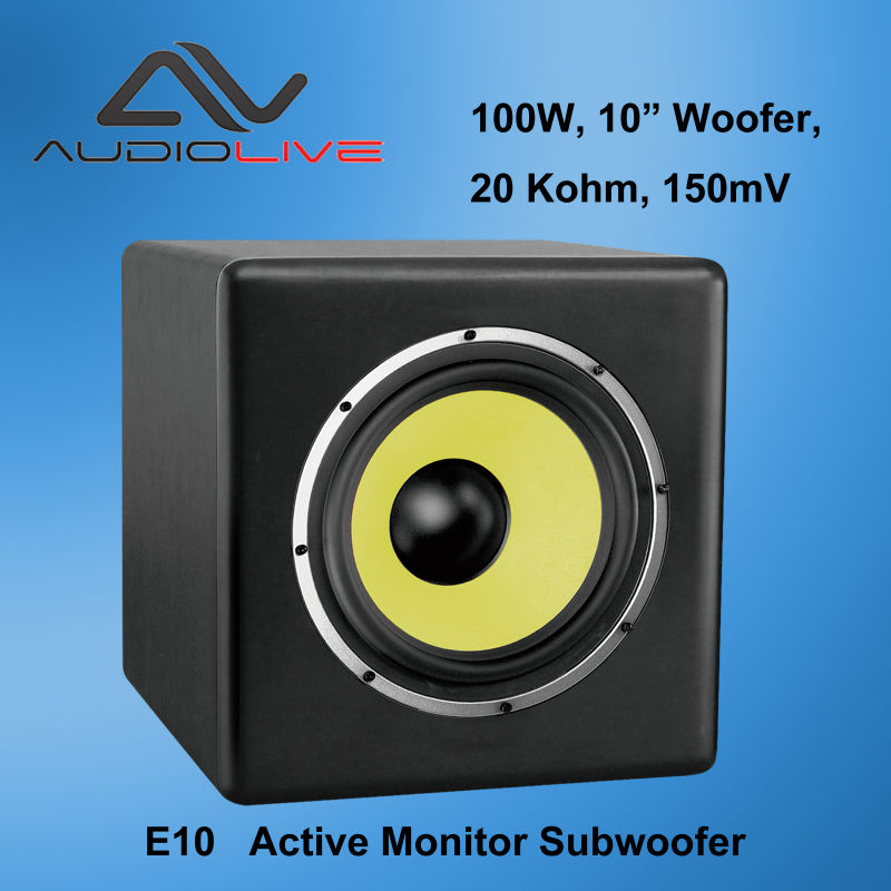 "Factory OEM & ODM supply 100W 10"" Woofer E10 Active Monitor Subwoofer"