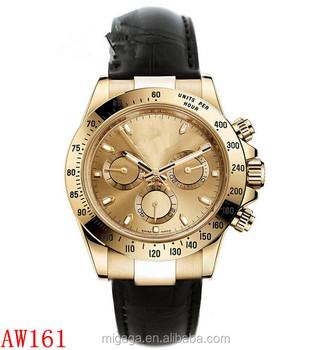 Resistente a riscos de chocolate ouro rosa dial moldura preta vidro de safira  chronograph relógio de b7751bc272