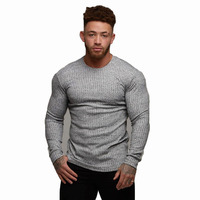 Fitness and leisure men's slim sweater