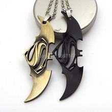 DC Superhero Collestion Batman Superman Metal Chain Pendant Necklace 10pcs/lot