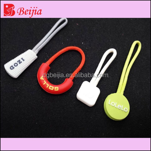 New design silicone cloth zipper pvc bags zipper rubber zipper puller slider for child