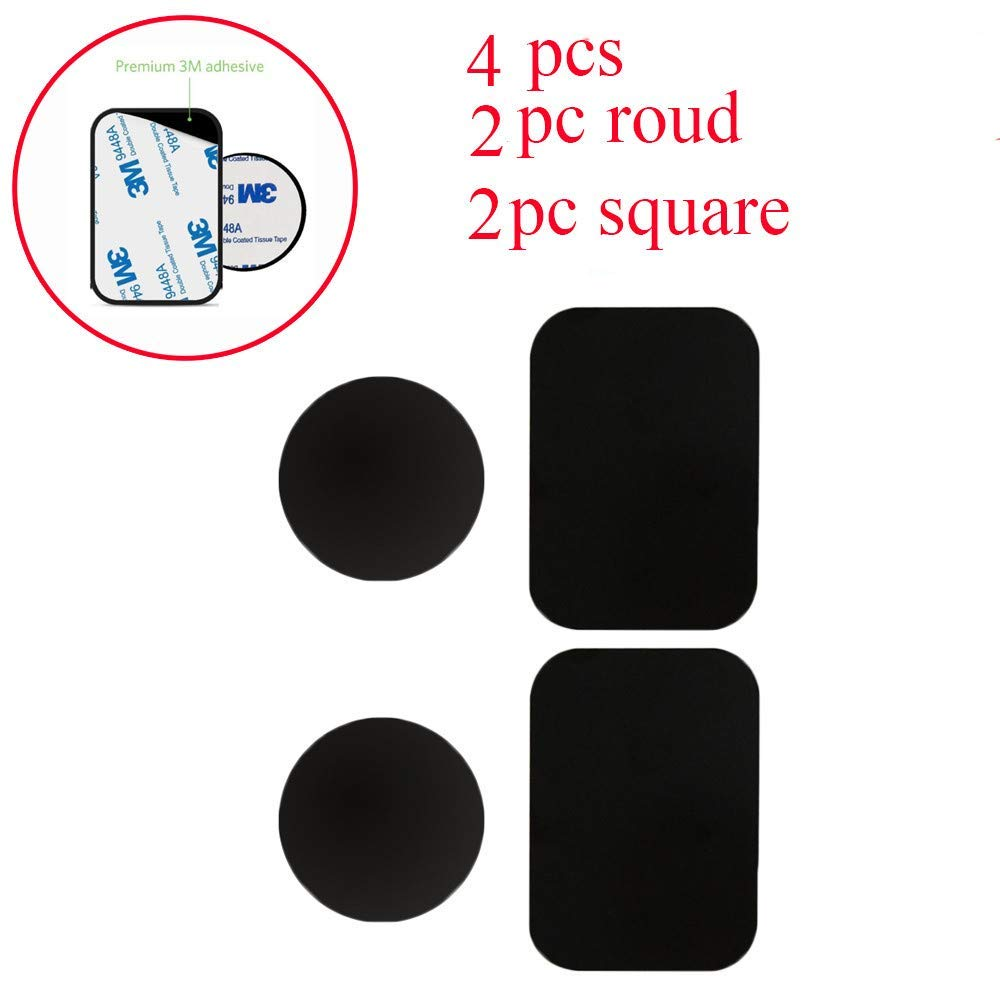 Universal Metal Plate Clearance Iuhan 2Packs / 4Packs Metal Plates Adhesive Sticker Replace For Magnetic Car Mount Phone Holder (A-4 Packs)