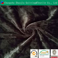 Changshu haojia Manufacture wholesale new design weft knit Elastic mivrofiber velvet fabric for sofa