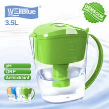 Antioxidant Alkaline Water Filter Pitcher 10 Cup Pitcher pH level 8.5~10 , ORP -150MV, H2 level -0.4ppm