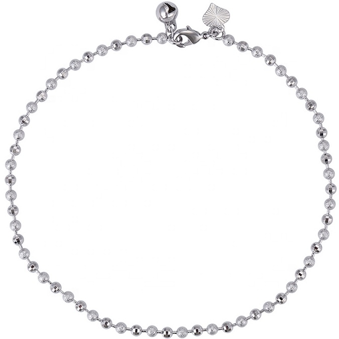 75985 xuping copper alloy bead ball anklet, rhodium plated woman body jewelry фото