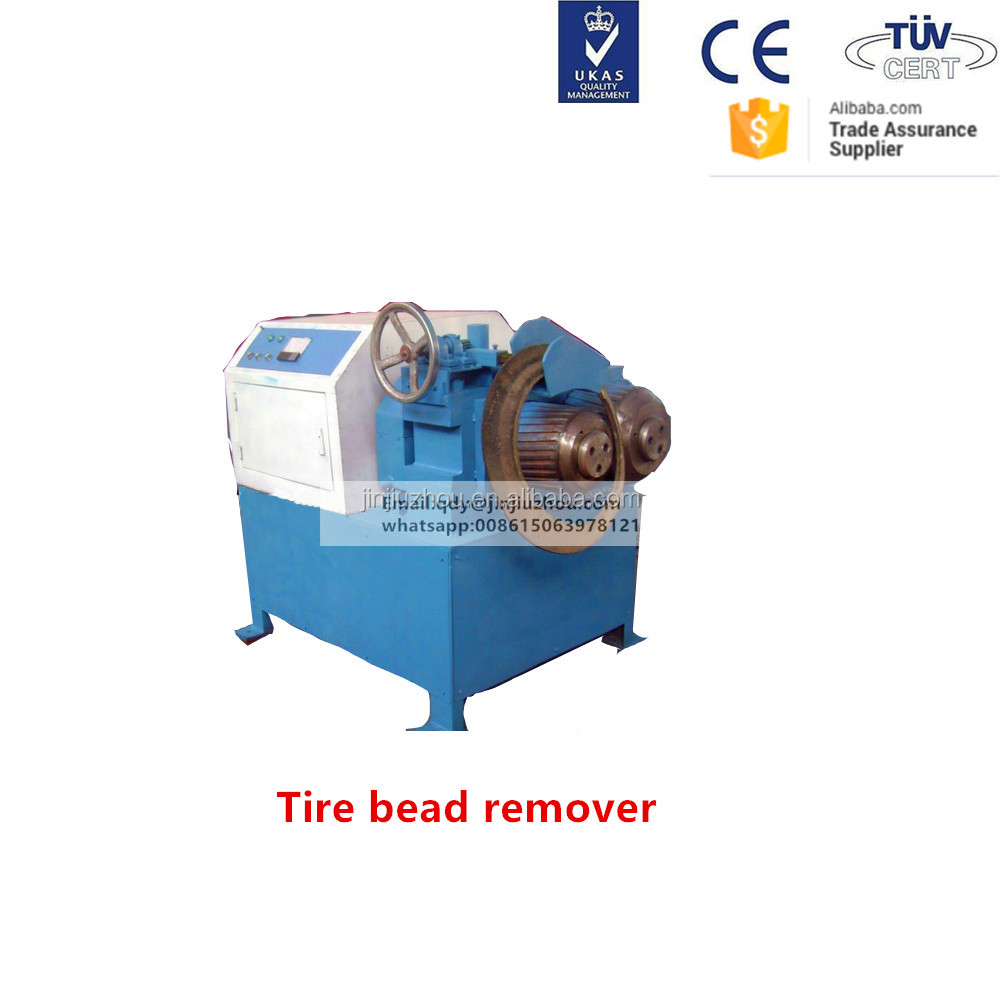 rubber and steel wire separator and waste tire recycling machine